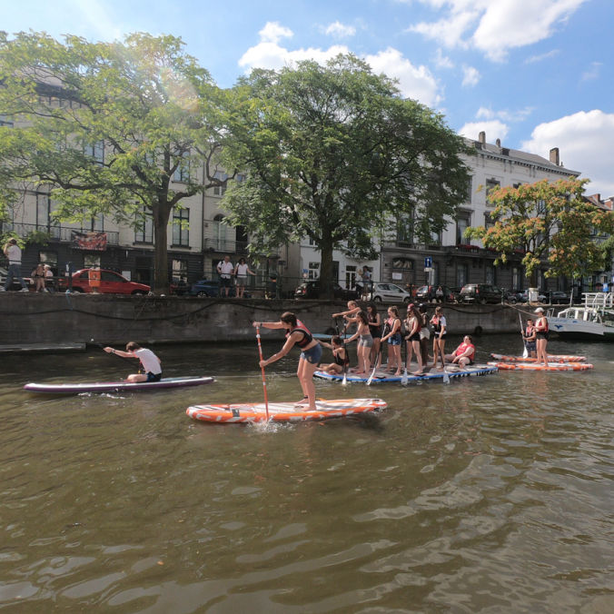 SUP in Gent Teambuilding